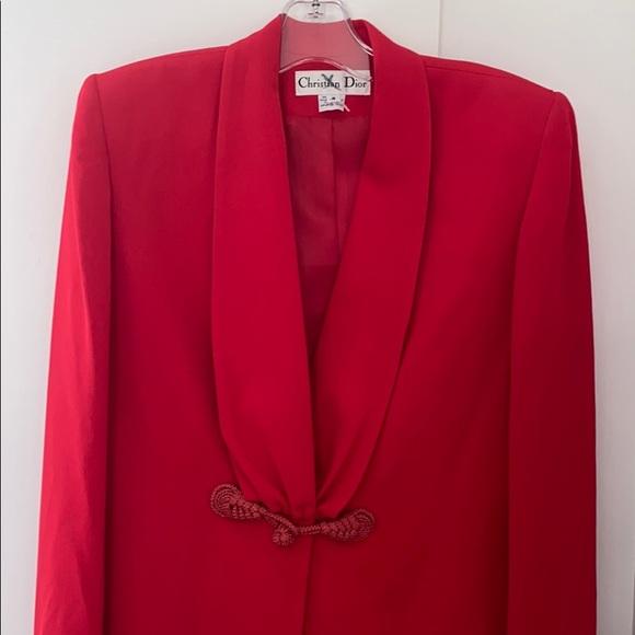 Vintage Christian Dior Red Blazer Size  4